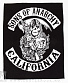 "нашивка на спину sons of anarchy ""california"""